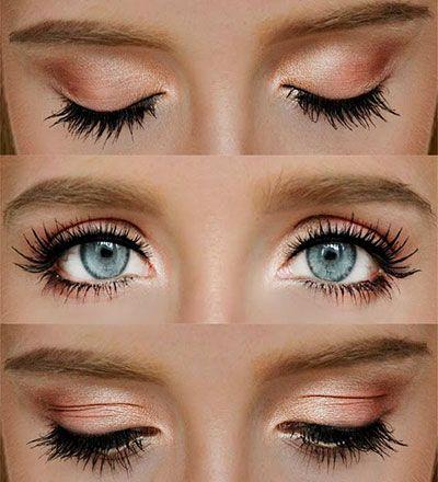 Makeup For Blue Eyes Eyeshadow Tutorials For Light Eyed Girls Droopy Eye Makeup Natural Wedding Makeup Makeup Looks