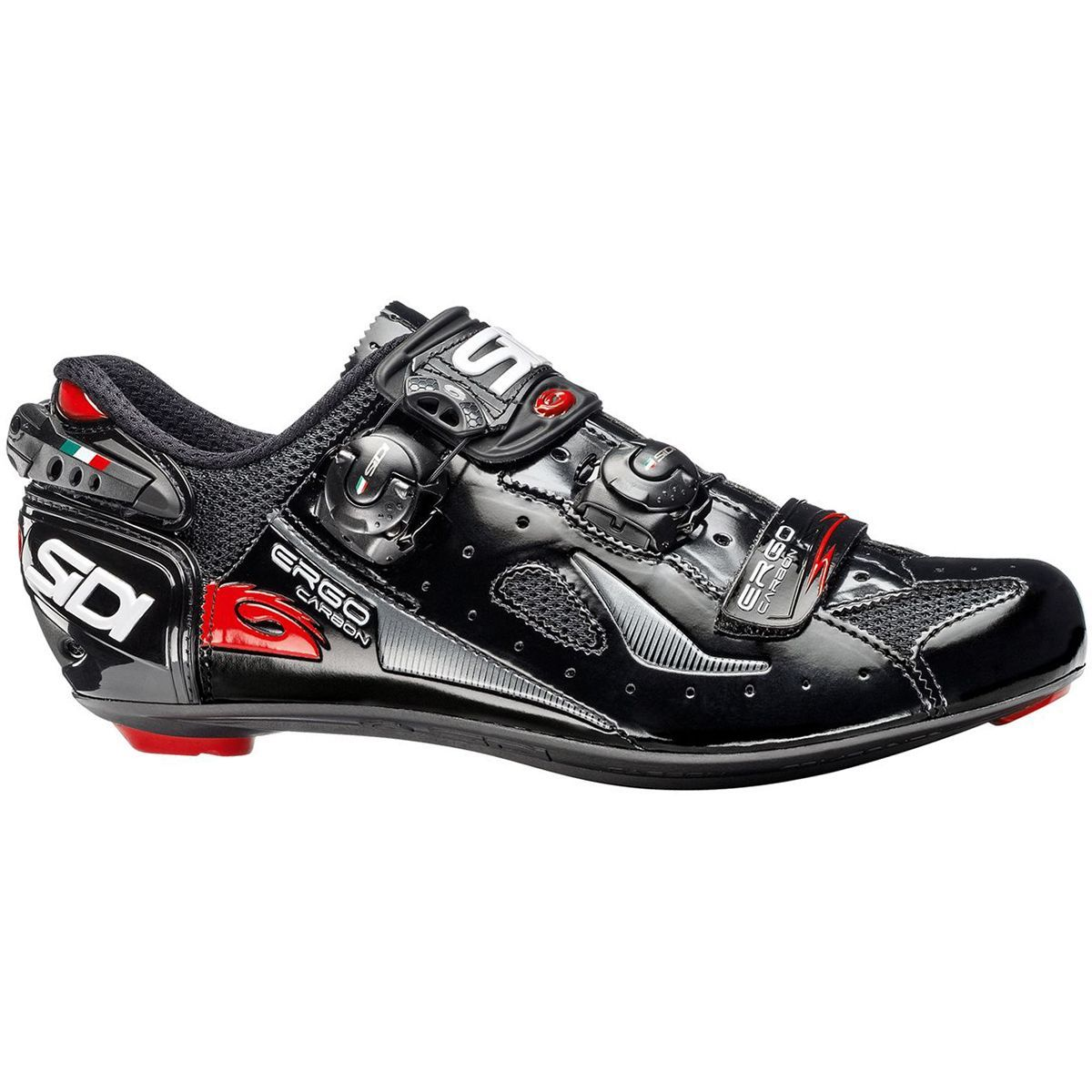 2018 New SIDI Genius 7 Road Bike Bicycle Cycling Shoes White//Black//Red