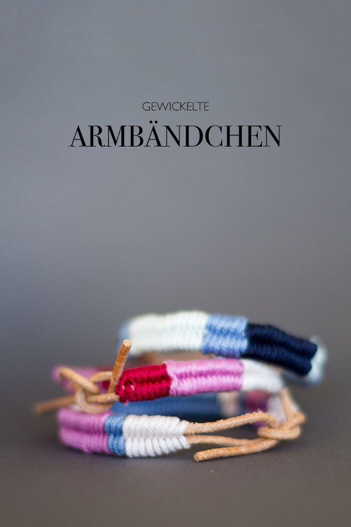 DIY ARMBÄNDCHEN AUS UMWICKELTEM LEDER   beautiful bracelet ...