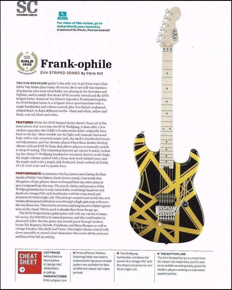 Eddie Van Halen Evh Striped Series Guitar 8 X 11 Sound Check Gear Review Evh In 2020 Eddie Van Halen Van Halen Guitar Reviews