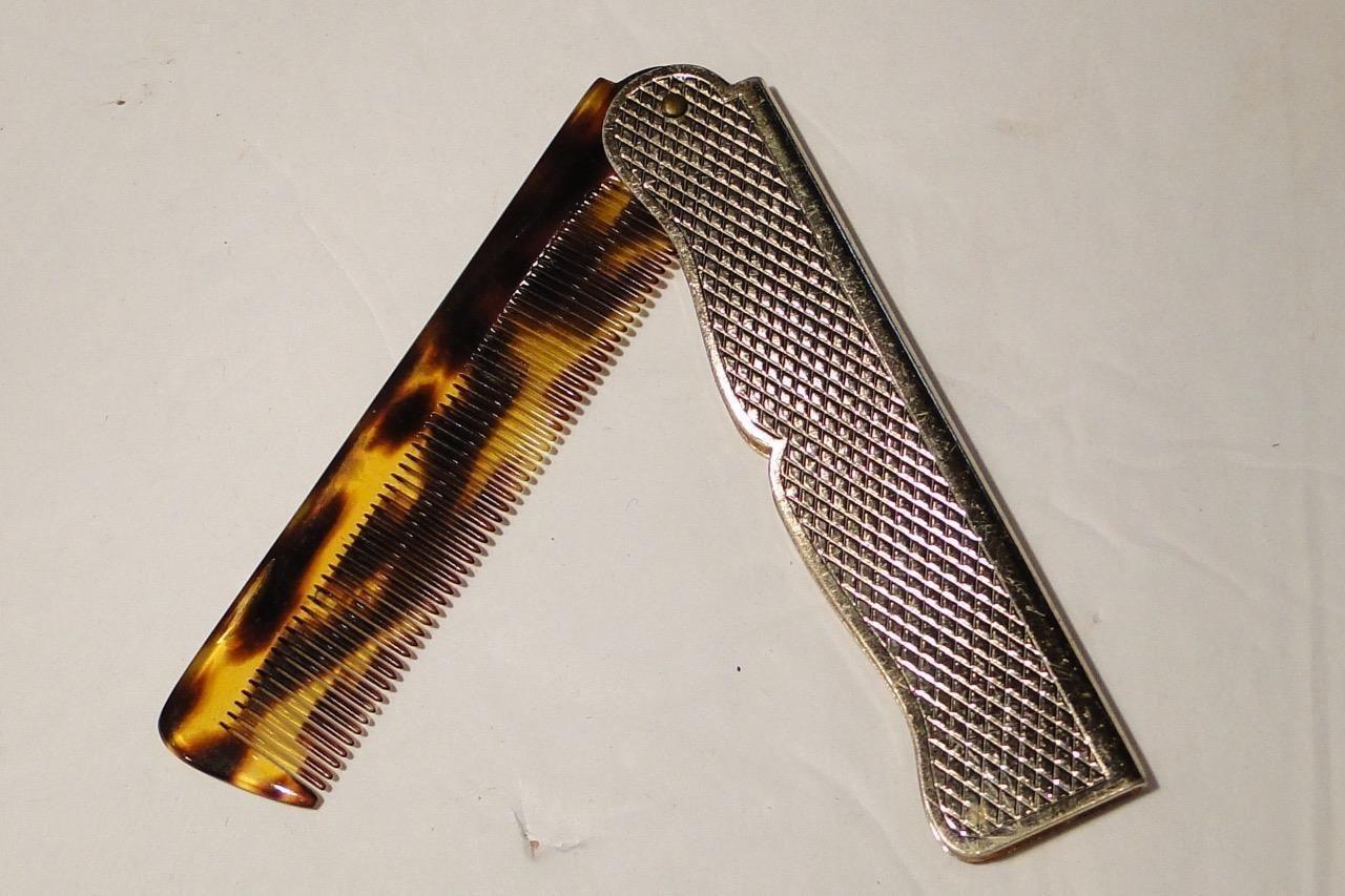 Vintage Fancy Folding Comb Tortoiseshell All Teeth Present | eBay