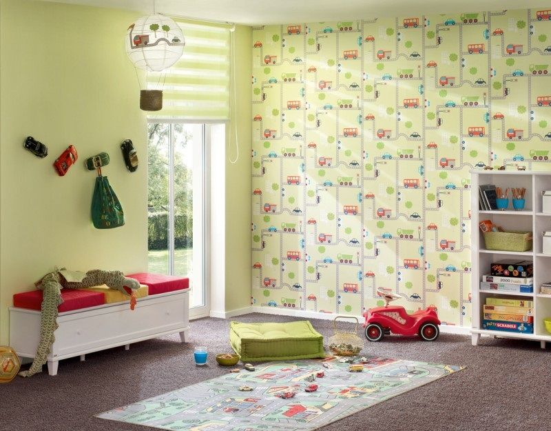 Cars Wallpaper Boys Room Kinderkamer Behang Van AS Creation - Boys car wallpaper designs