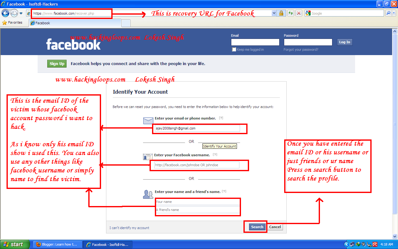 Tutorial how to hack facebook accounts | Facebook Hacking Tool