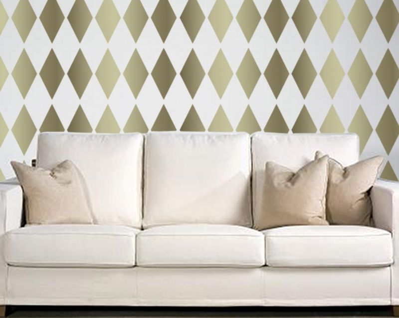 Harlequin Pattern Repeating Stencil For The Home Pinterest