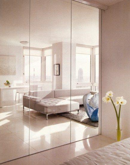 Interior Glass Walls Closet Bedroom Closet Mirror Mirror Closet Doors
