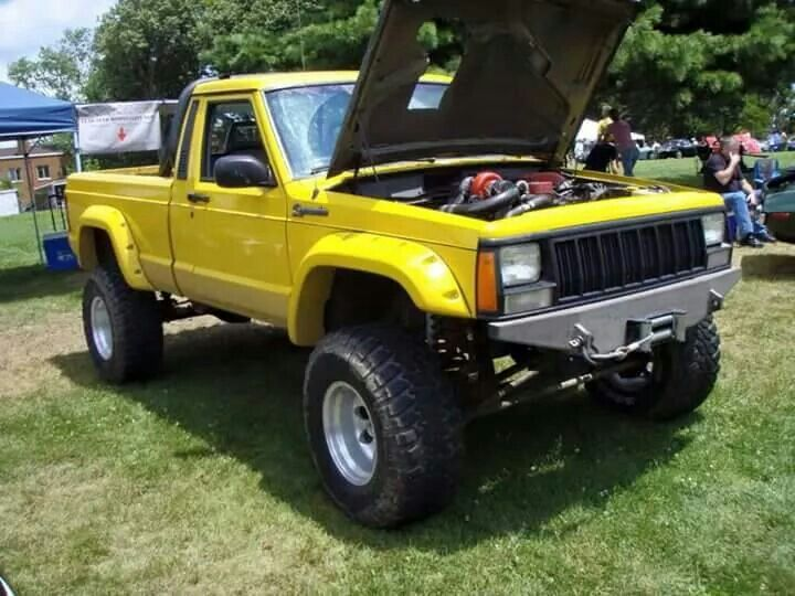 Yes Please Comanche With Cummins Diesel Engine Jeep Xj Yellow Jeep Jeep Truck