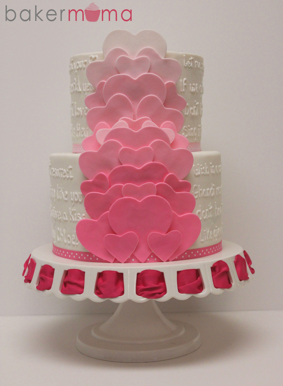 Layers Of Hearts Heart Birthday Cake Celebration Cakes Heart