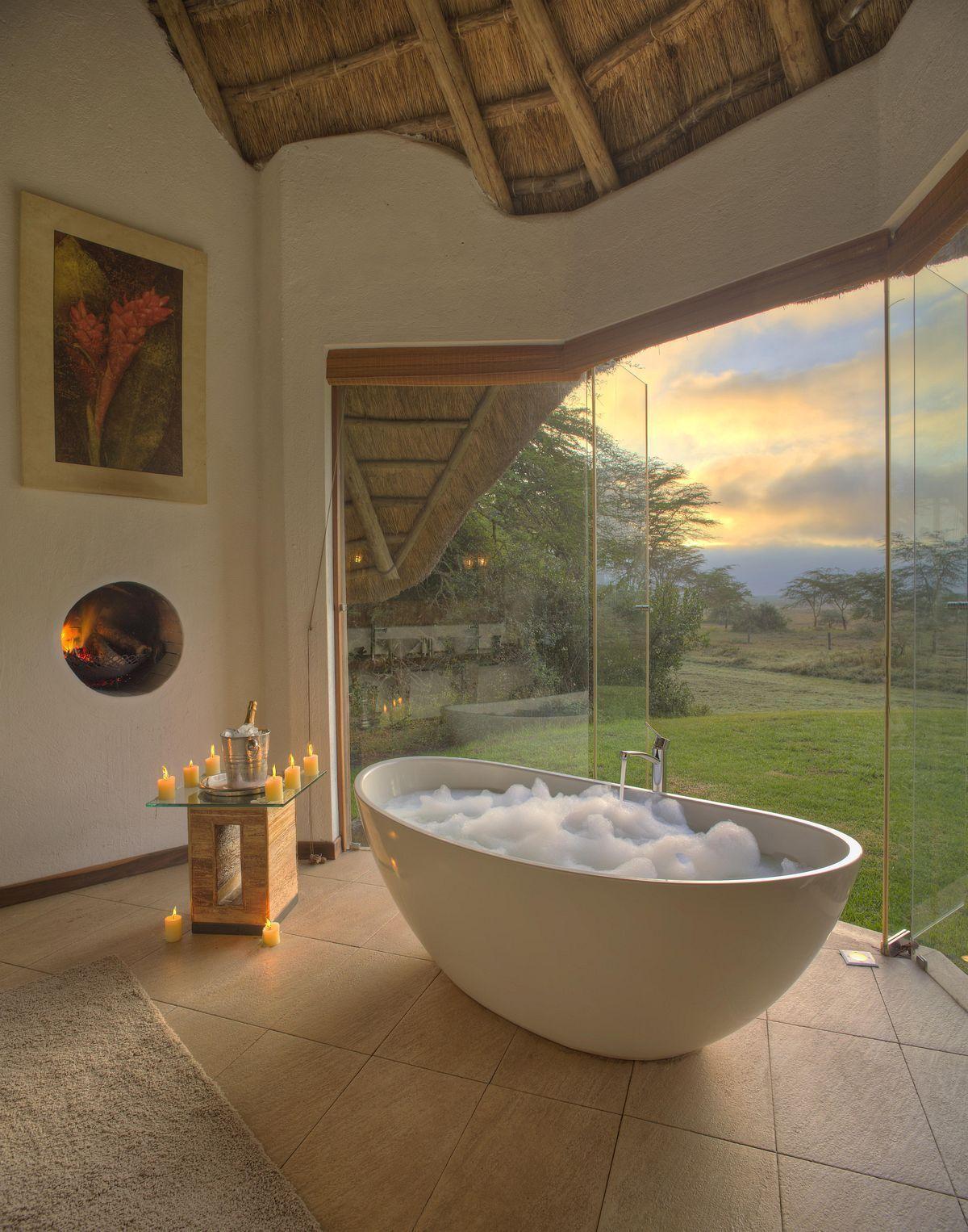 Garden tub decor  Inspirations  bathroom idea  Pinterest  Bathroom Bath and House