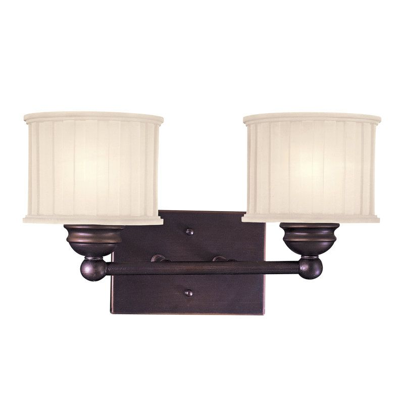 Photo of Minka Lavery 6732-167 Lathan bronze 2-light basin lamp from the 1730 series