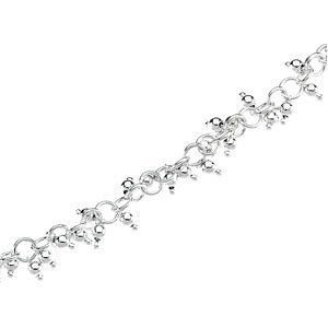 Ste. Silver Ring-Ring Chain Bracelet Balls 7.5 Inch - Size 6 - JewelryWeb JewelryWeb. $114.10. Save 50%!