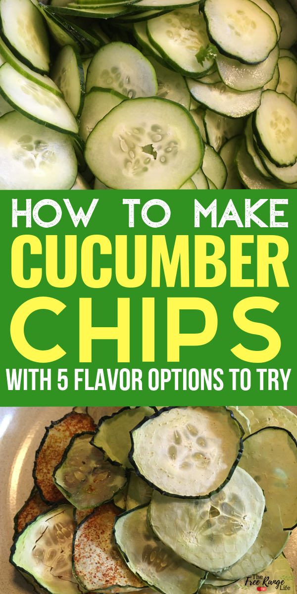 How to Make Cucumber Chips (with 5 Flavor Options)