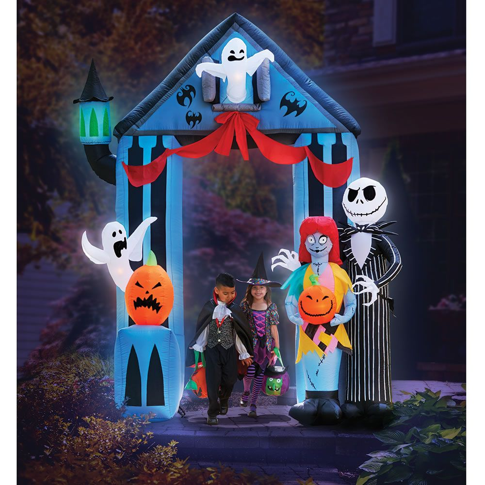 the 9 inflatable nightmare before christmas portal hammacher schlemmer