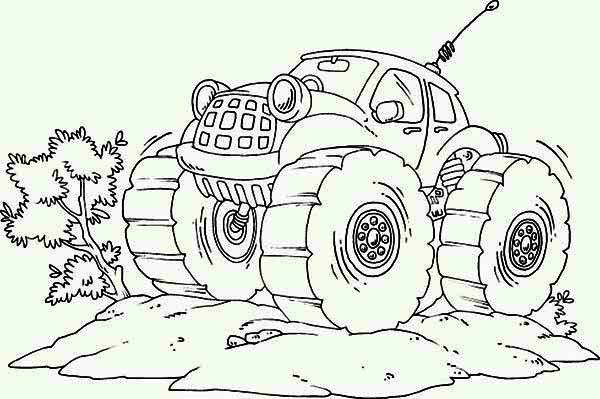 Monster Truck Radio Control Coloring Page Download Print Online Coloring Pages For Free Color Nimbus