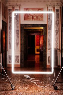 Neon Intervention // Lorenzo Vitturi. The stark contrast between modern and traditional art is fascinating.