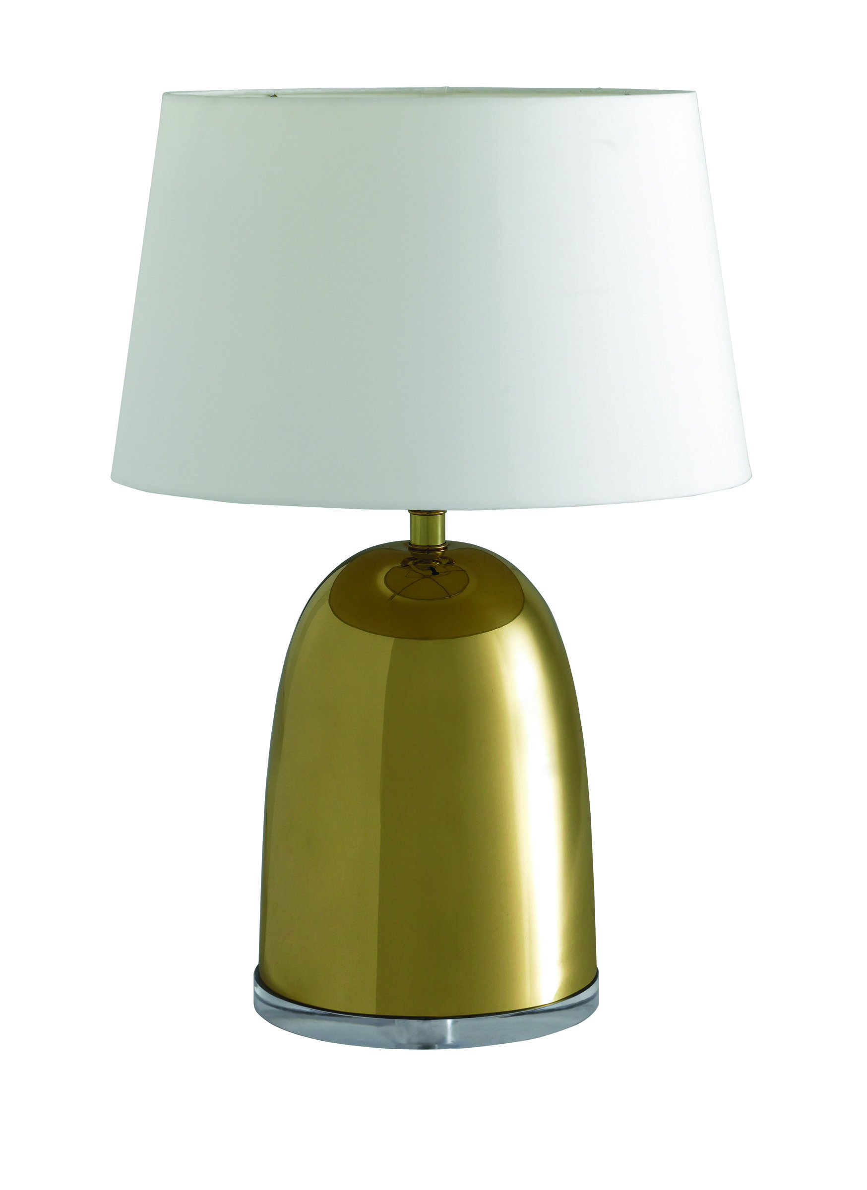 Caracole U2013 This New Lamp From The Caracole Collection Features A Bright  Brass Bullet Shaped
