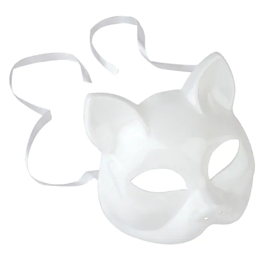 White Cat Mask By Creatology In 2021 Cat Mask Cat Mask Diy Cat Halloween Costume