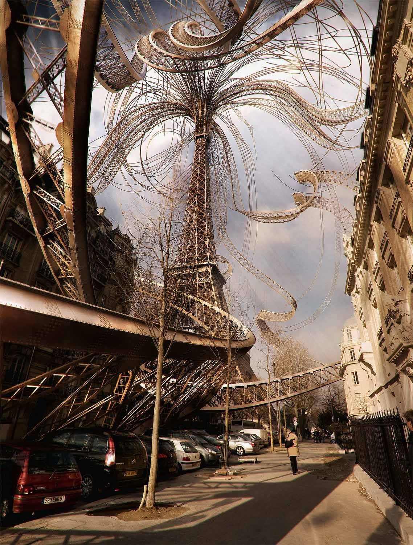 Eiffel tower growing by myself tour eiffel paris