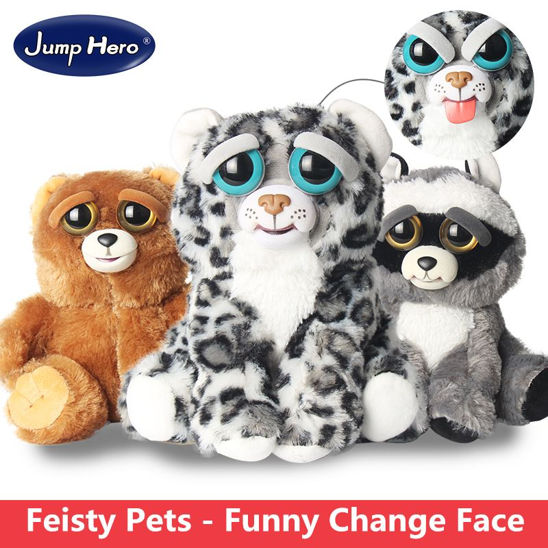 Change Face Feisty Pets Plush Toys With Funny Expression Stuffed
