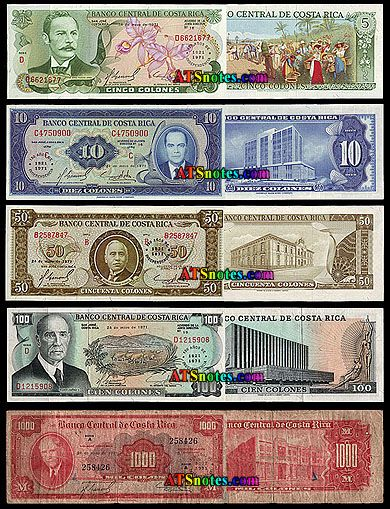 Costa Rica Currency Banknotes Paper Money Catalog And Rican