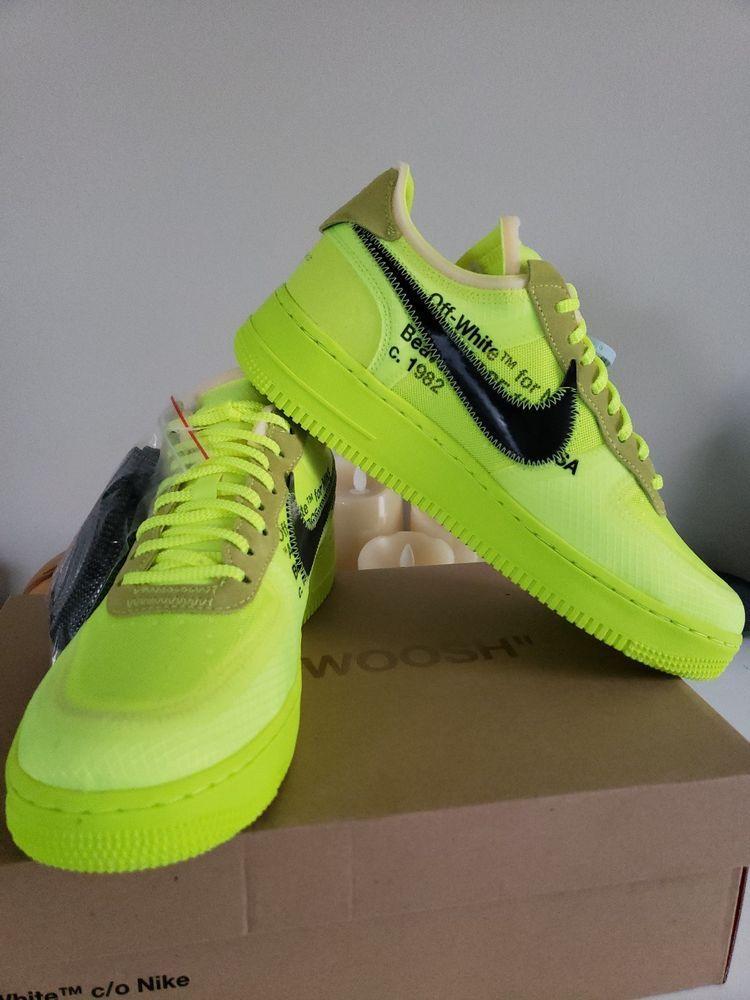 Nike Air Force 1 Low Virgil Abloh Neon Yellow fashion