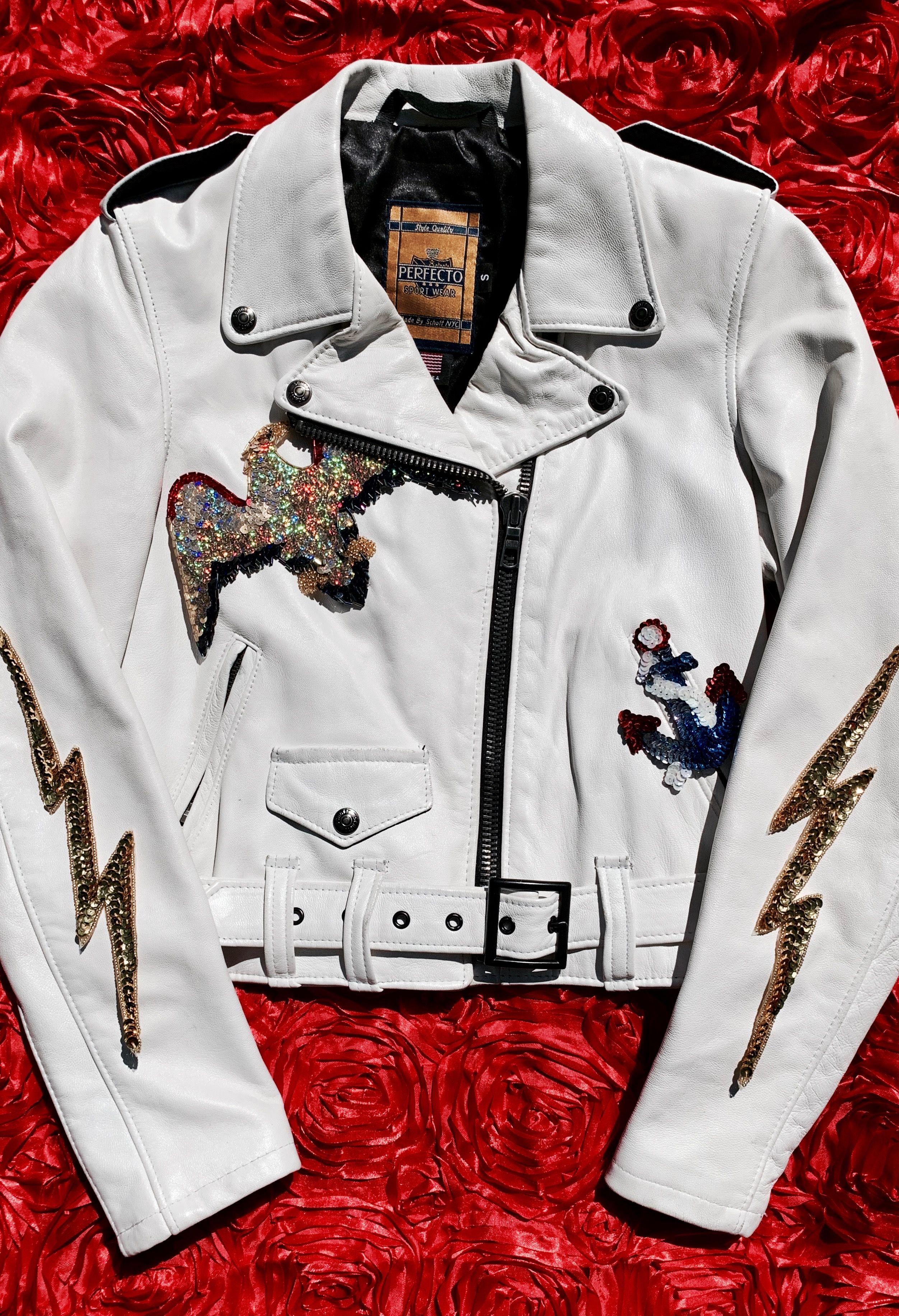 parrot sequins patch applique embroidery patches for clothes t-shirt jeans MC
