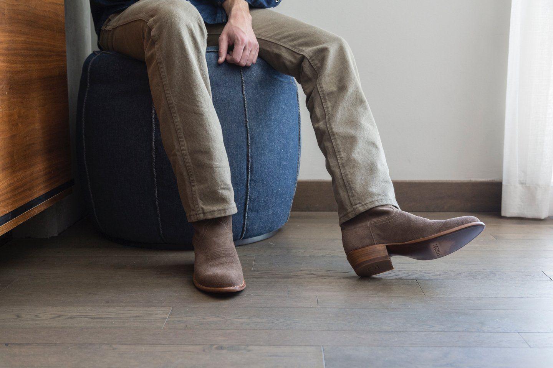 Boots, Mens suede cowboy boots