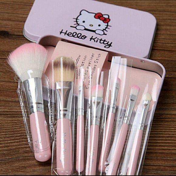 Hello Kitty Travel Makeup Brushes Hello Kitty Makeup Pink Makeup Brushes Set Makeup Brushes