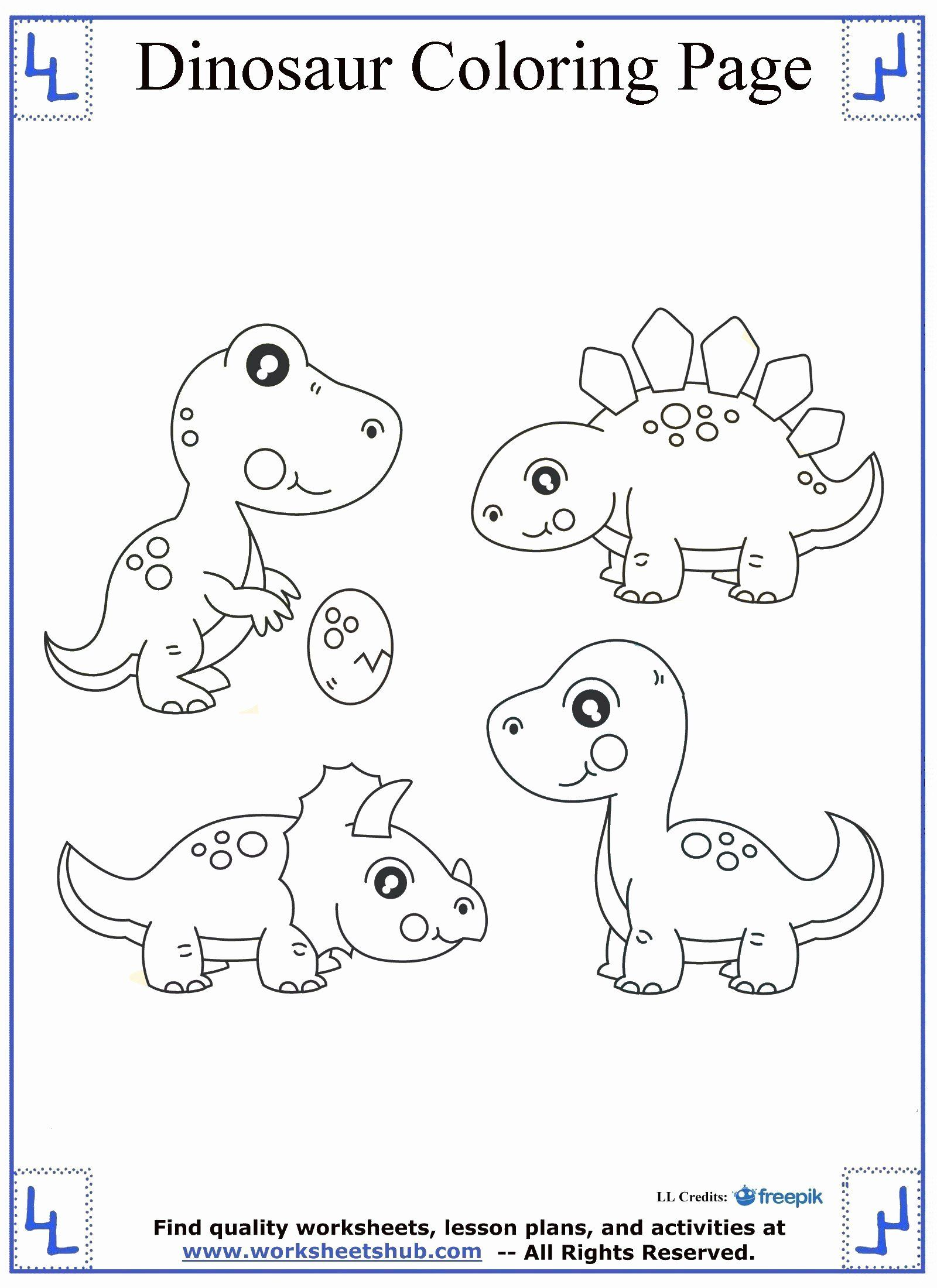 Baby Animal Coloring Pages In 2020 Dinosaur Coloring Pages