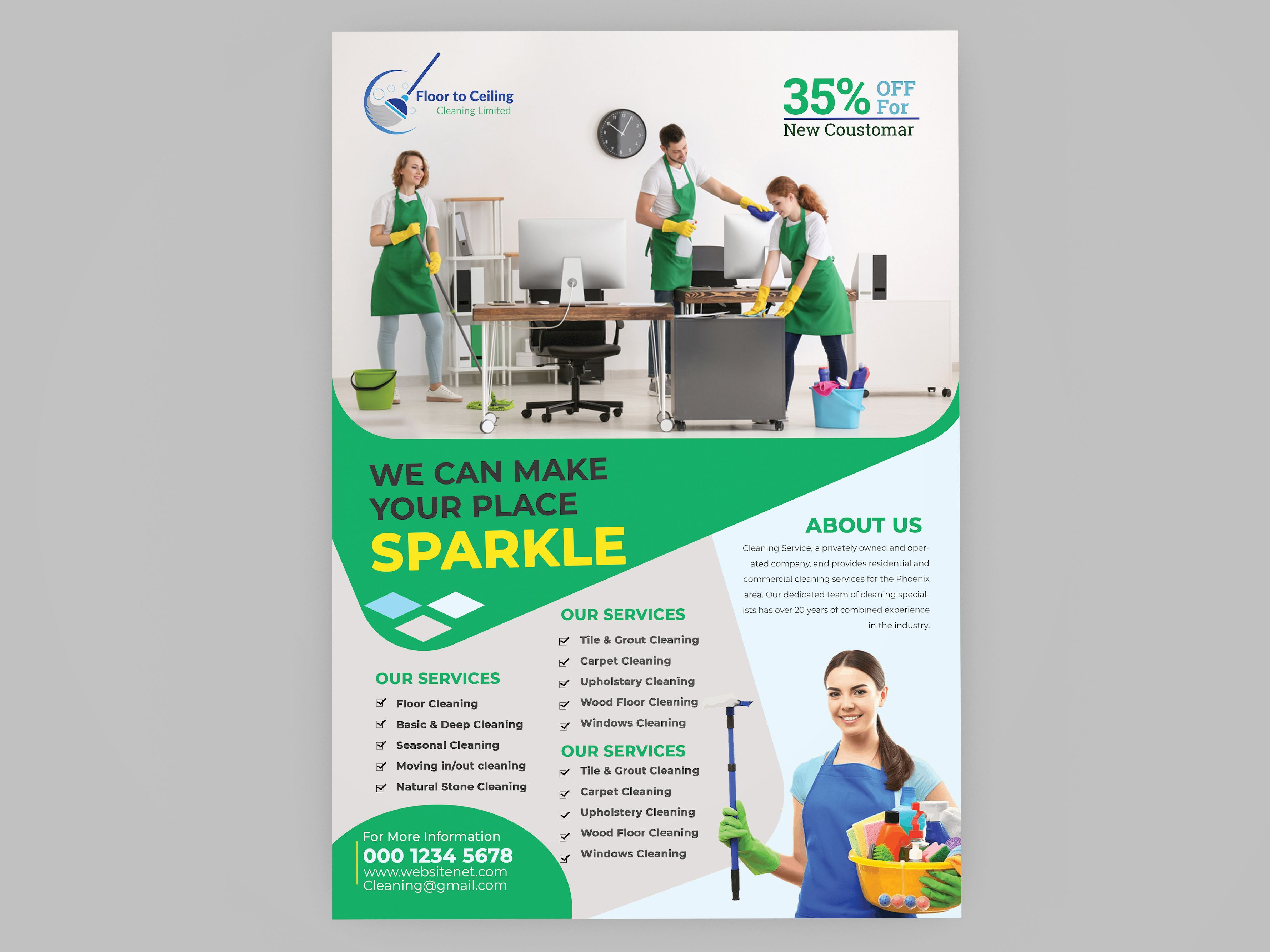 Cleaning Services Flyer Template Cleaning service flyer