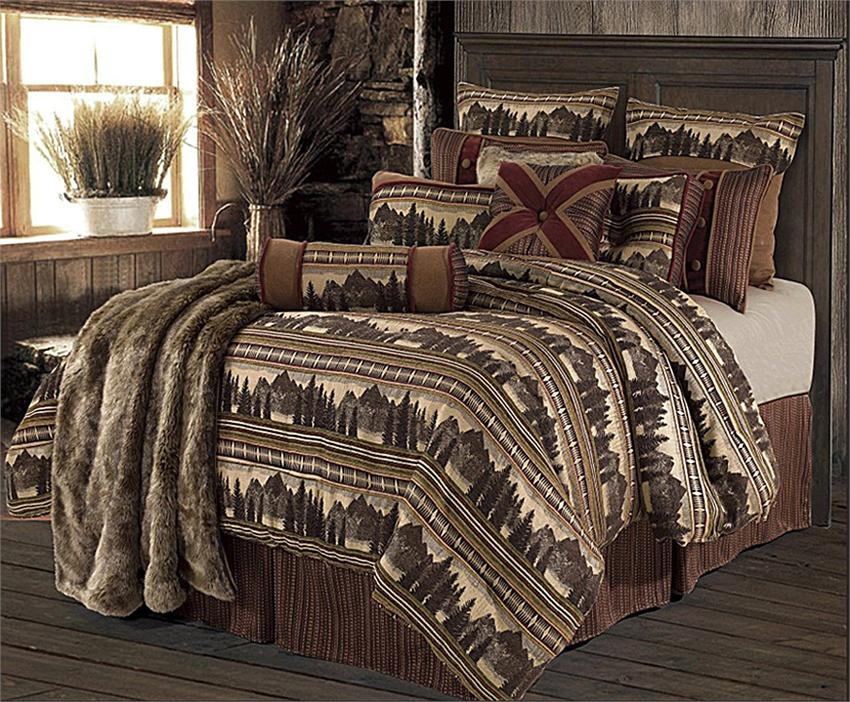 Rustic Mountain Cabin Bedding Yahoo, Mountain Lodge Bedding
