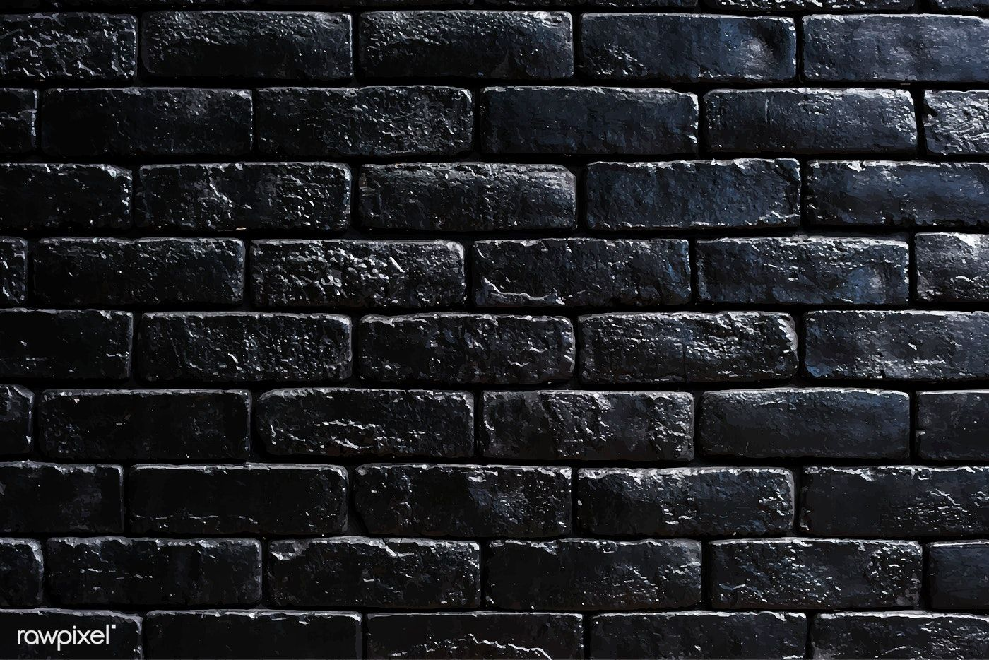 Black Brick Wall Textured Background Vector Free Image By