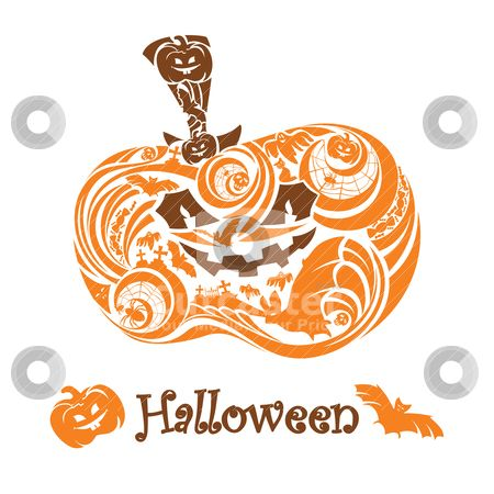 ghost clip art pattern | Halloween pumpkin stock vector clipart halloween pumpkin card vector