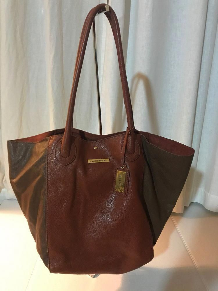 Liz Claiborne Multicolored Brown Genuine Leather Hobo Shoulder Handbag Ebay Lizclaibornepurses