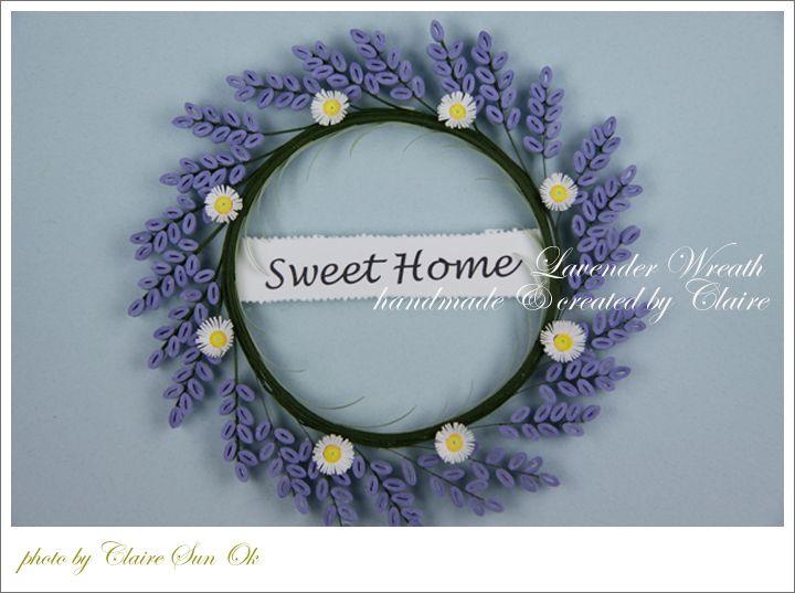 라벤다 꽃으로 만든 장식용 리스(wreath) : 네이버 블로그