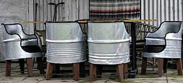 Recycled 44 Gallon Steal Drums Made Into Chairs... How Awesome Are These! Part 20