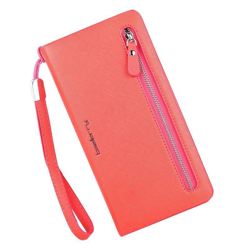 0cbda7ed6f6f22 Brand Wallets Women Purses Female Zipper Long Designer Leather Coin Purses  Money Bags Card Holders Clutch