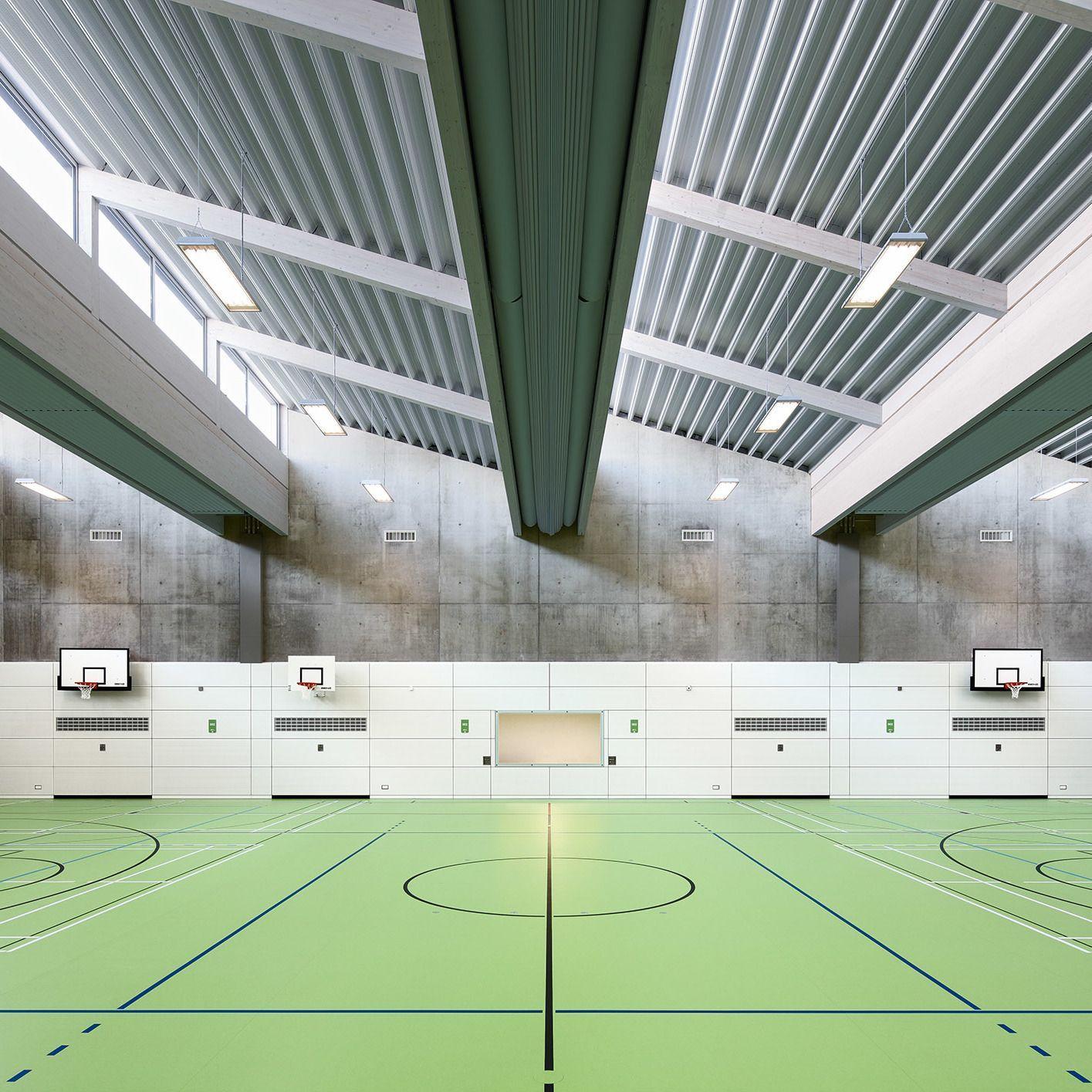 Neubau Zweifeld Sporthalle A D Max Planck Schule Russelsheim Sporthalle Neubau Halle