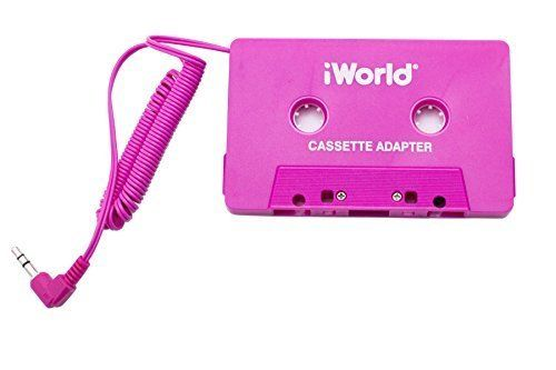 Android and MP3 -Black iPhone iWorld Cassette Tape Adapter for iPod Galaxy iPad