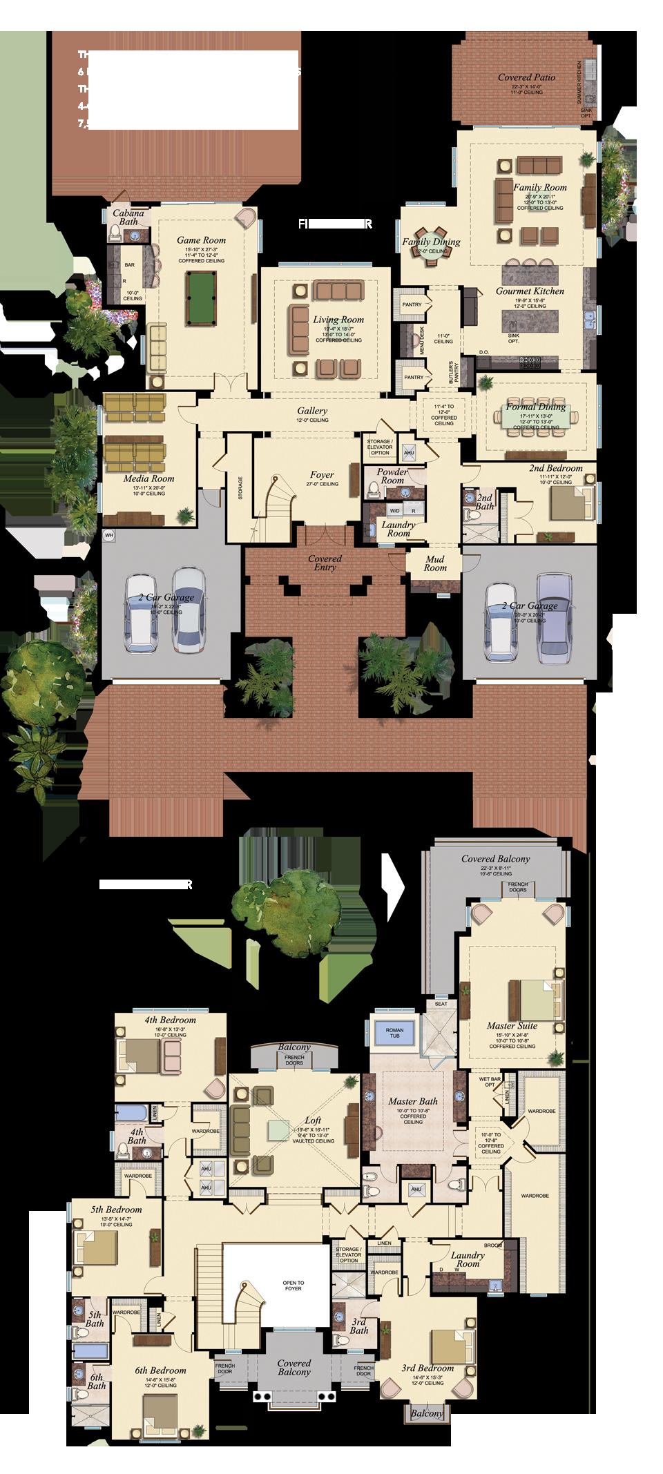 3 master bedroom apartments  The Oaks at Boca Raton  Lot  floor plan  floorplan  Pinterest