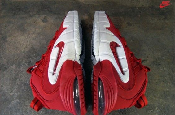 """san francisco d6dd5 ee20d ... White Black Leather Nike Air Max Penny Mens Shoes  Nike Air Max Penny """"University  Red"""" October 3, 2014, ..."""