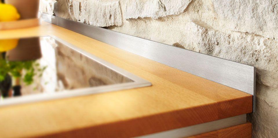 Wandabschlussleiste, Edelstahl gebürstet Great Ideas for - arbeitsplatte holz küche