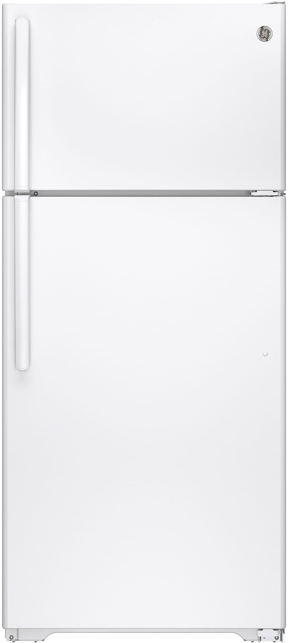 GE GTE16GTHWW 28 Inch TopFreezer Refrigerator with Snack