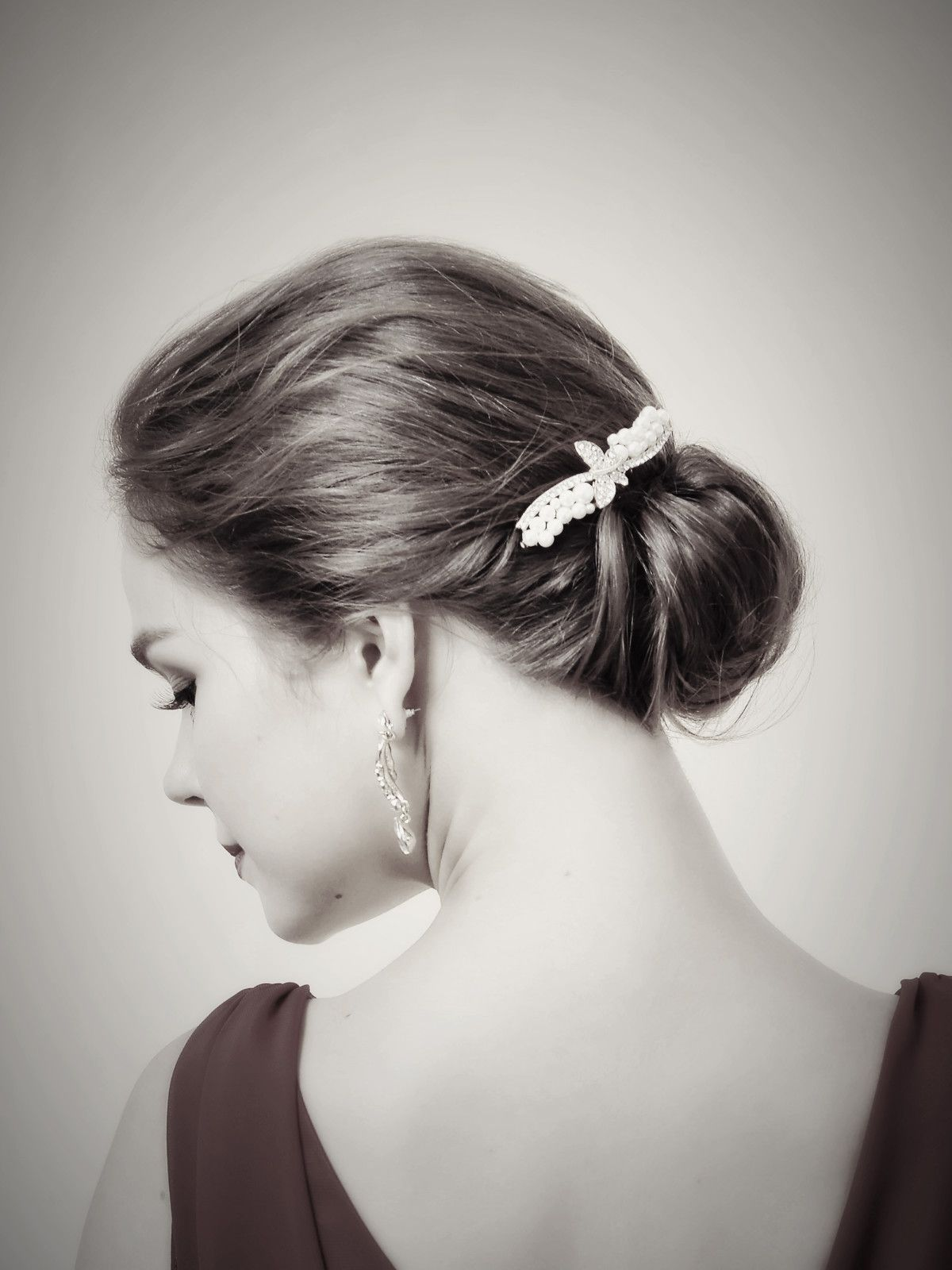 For any special occasion Simple hair updo with Pearly Hair Comb ...