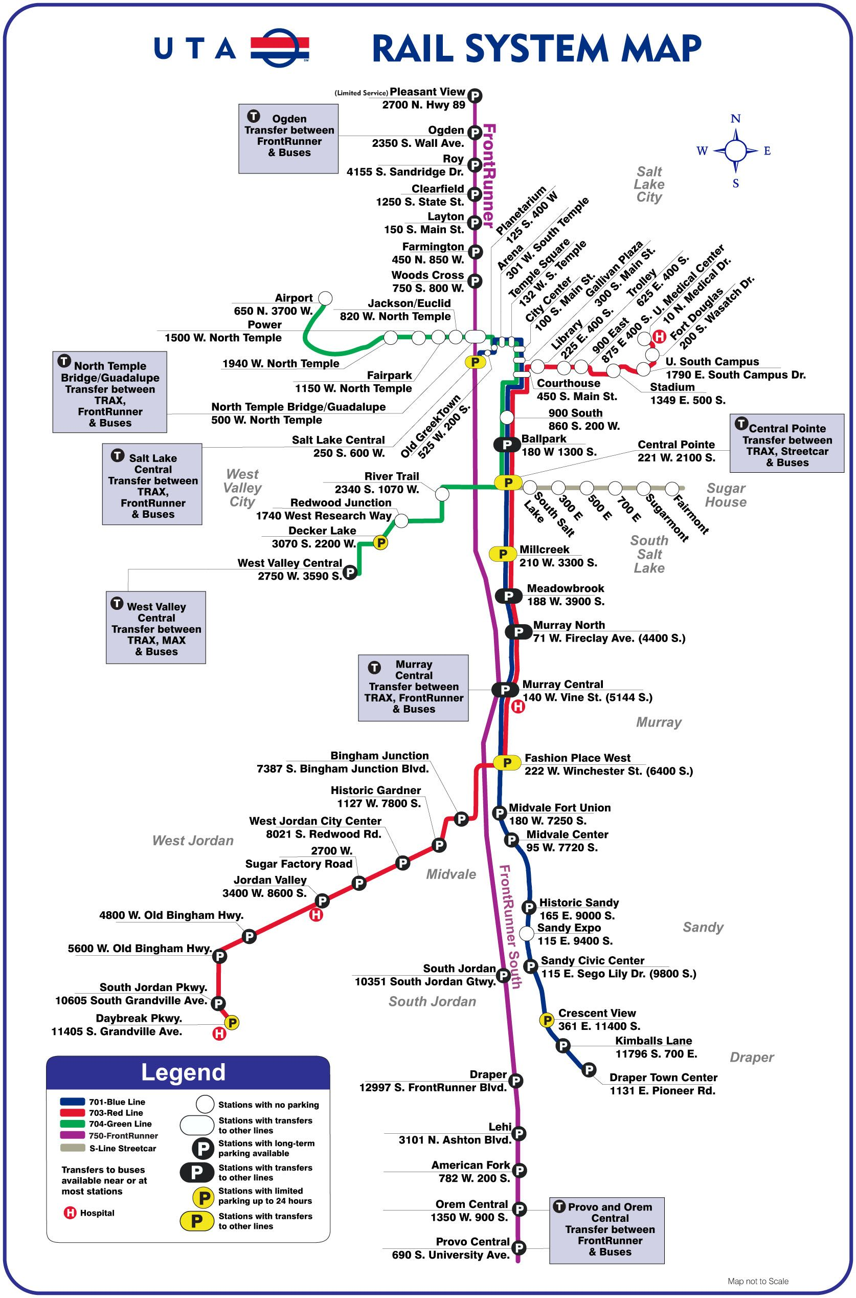 Trax and Frontrunner public transportation in SLC | Salt ... Salt Lake City Public Transportation Map on cincinnati public transportation map, santa clara public transportation map, boston public transportation map, florida public transportation map,