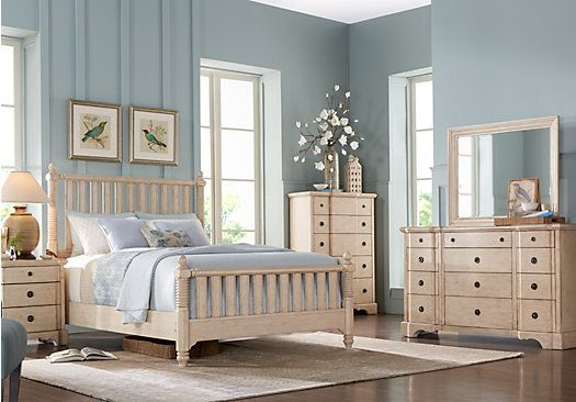 shop for a viletta white 5 pc queen slat bedroom at rooms