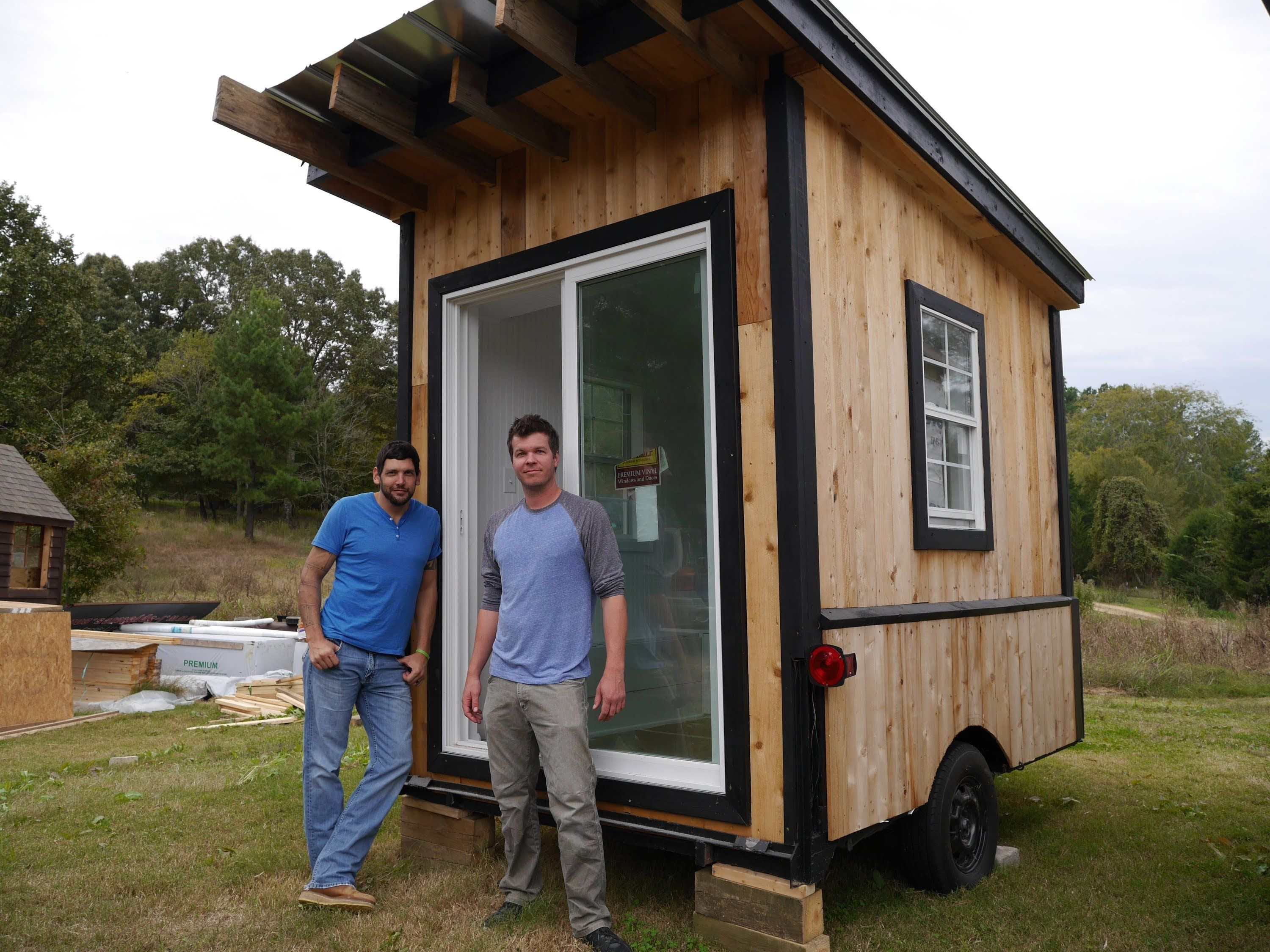 Cheap Cabins To Build Yourself Inexpensive Small Cabin: A Tiny Tailgating House/Cabin On Wheels- A 60 Square Foot