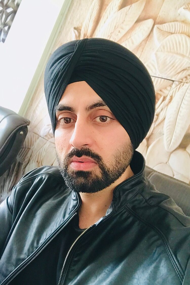 Sikh Boy Selfie Casual look in Black Turban  Sardar , Turban
