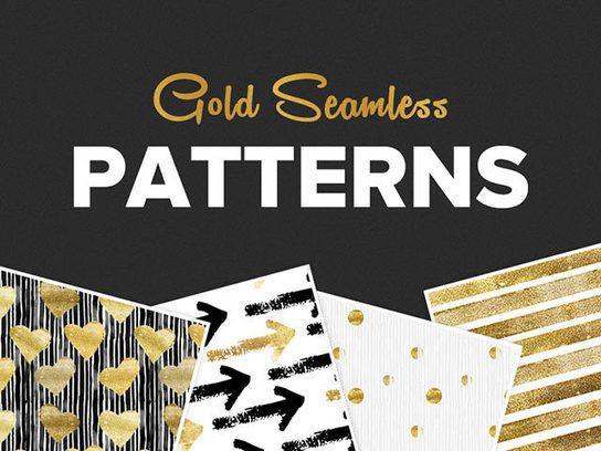 Free+Pattern+|+Seamless+Gold+Pattern+Set