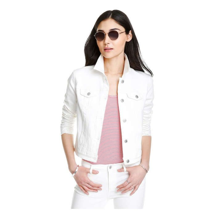 269128d81 White Denim Jacket from Joe Fresh. Give your style an edge with our ...