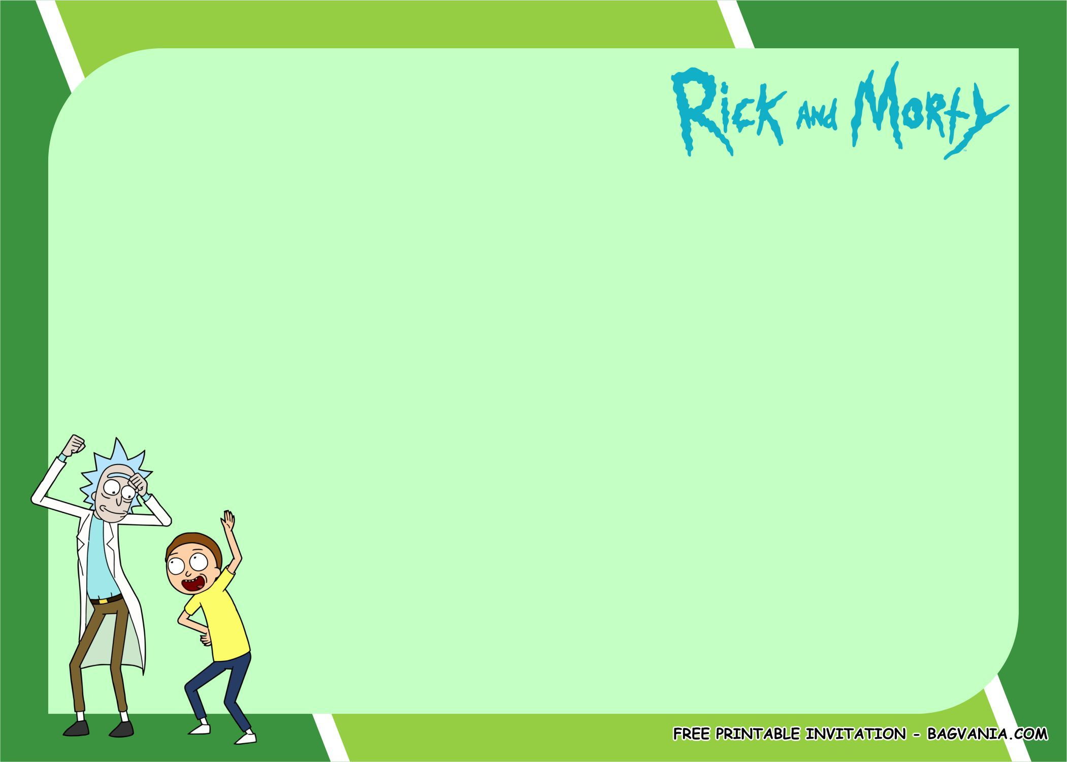 Free Printable Rick And Morty Birthday Party Kits Template Birthday Party Kits Free Printable Birthday Invitations Free Birthday Invitation Templates